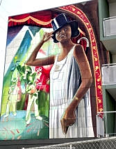 Mural Tribute to Florence Mills in South Los Angeles